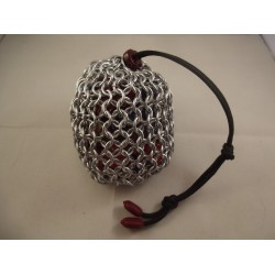 Large Silver Chainmaille Dice Bag