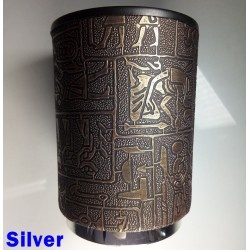 Egyptian Dice Cup with Silver Base