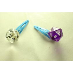 Dice Hair Clips Pair