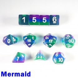 Aurora Gem Mermaid 11 Dice Set