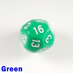 D16 Round Opaque Green