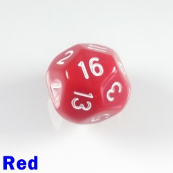 D16 Round Opaque Red