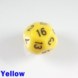 D16 Round Opaque Yellow