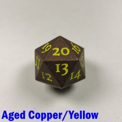 D20 Metal Aged Copper/Yellow Spindown