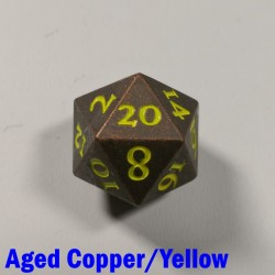 D20 Metal Aged Copper/Yellow