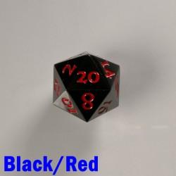 D20 Metal Black / Red