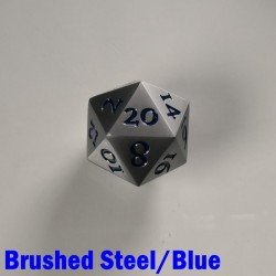 D20 Metal Brushed Steel/Blue