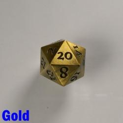 D20 Metal Gold