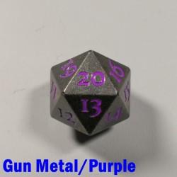 D20 Metal Gun Metal/Purple Spindown
