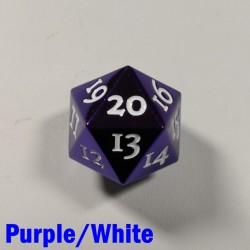 D20 Metal Purple/White Spindown
