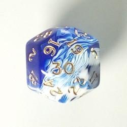 D30 Marble Blue
