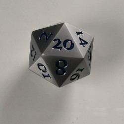 D20 Metal Brushed Steel / Blue