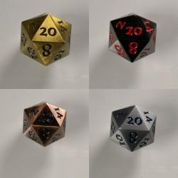 D20 Metal set of 4