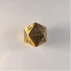 D20 Metal Gold Spindown