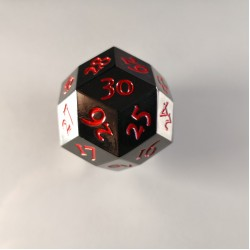 D30 Metal Black / Red Spindown