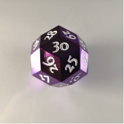 D30 Metal Purple / White Spindown