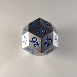 D30 Metal Brushed Steel / Blue Spindown