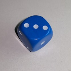 16mm 6 Sided D3 Opaque Blue Spotted