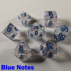 Glitter Flakes Blue Notes