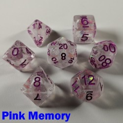 Glitter Flakes Pink Memory