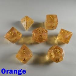 Iridescent Glitter Orange
