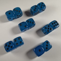 15mm D6 Blue Glow in The Dark Dice
