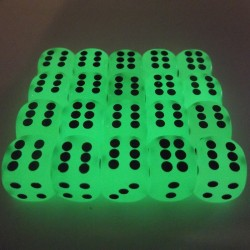 14mm Classic Glow in The Dark Dice D6