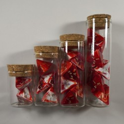 Marble Red Full Set of Healing Potions for 5e D&D (Engraved)