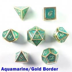 Bordered Aquamarine/Gold