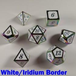 Bordered White/Iridium
