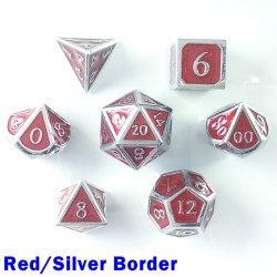 Bordered Red/Silver