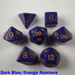 Opaque Dark Blue/Orange Numbers
