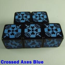 Viking Crossed Axes Blue 16mm D6 - Set of 5