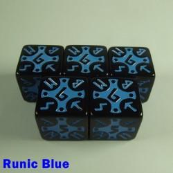 Viking Runic Blue 16mm D6 - Set of 5