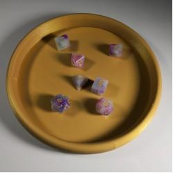 Dice Rolling Tray 3D Printed Plain Design Short